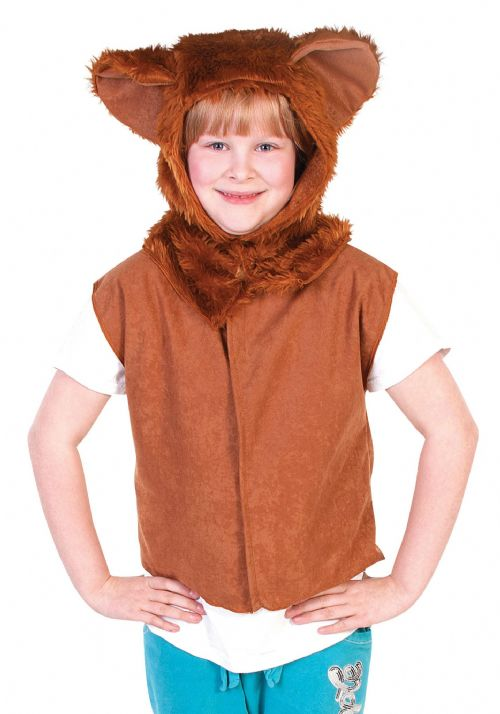 Childs Lion Fur Tabard Costume Jungle Animal Beast Africa India Fancy Dress